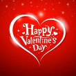 Vector de stock : Happy Valentine's Day lettering Greeting Card