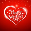 Happy Valentine's Day lettering Greeting Card - Stockvectorbeeld