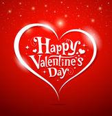счастливый день святого валентина надписи поздравительных открыток — Cтоковый вектор