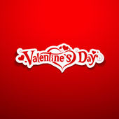 Happy Valentine's Day lettering on red background — Vector de stock