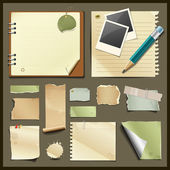 Vintage paper collections design — Stock Vector