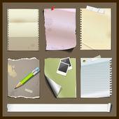 纸张收藏品设计背景 — 图库矢量图片