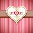 Happy mothers day greeting card design — Stock Vector