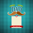 Happy fathers day greeting card background — Stock Vector #26936717