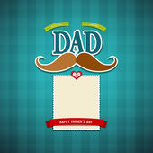 Happy fathers day greeting card background — Stock Vector