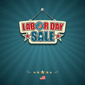 Labor day sale American signs — Stock Vector