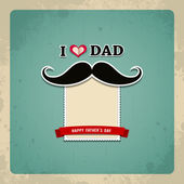 Happy fathers day vintage greeting card background — Stock Vector