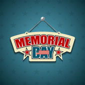 Memorial Day American signs hanging with chain — Stock Vector