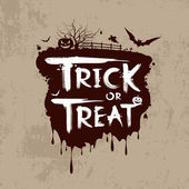 Halloween trick or treat message design — Vettoriale Stock