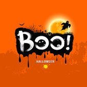 Halloween Message Boo!. design background — Vector de stock