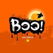 Halloween Message Boo!. design background — Vettoriale Stock