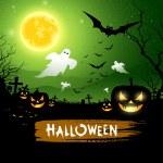 Halloween ghost design background — Stock Vector