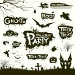 Happy Halloween collections design — Stock Vector