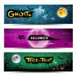 Happy Halloween banners collections design — Stock Vector