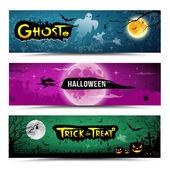 Happy Halloween banners collections design — Stock Vector