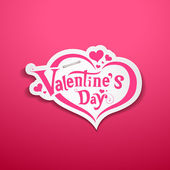 Happy Valentine's Day lettering design on pink background — 图库矢量图片