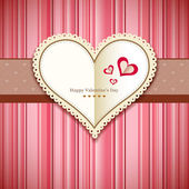 Happy Valentine's day greeting card design pink background — Stock Vector