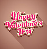 Happy valentine's day modern message background — Vector de stock