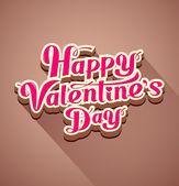 Happy valentine's day modern message background — Stock Vector