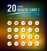 Health care twenty icons design background — Stock Vector
