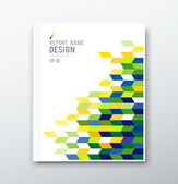 Cover annual report flag of brazil geometric design — Stock Vector