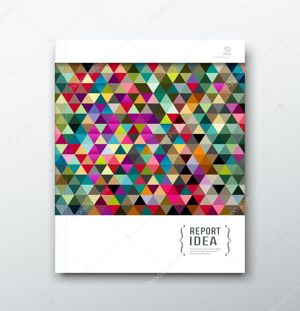 cover annual report abstract colorful triangle geometric template cover annual report abstract colorful triangle geometric template design background vector illustration vector by sarunyu foto