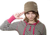 Girl in kepi — Stock Photo