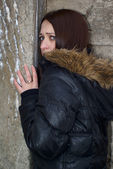 Scared young woman — Stock Photo