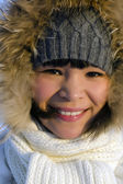 Young beautiful chukchi woman — Stock Photo