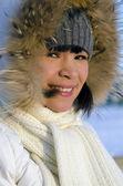 Young beautiful chukchi woman — Stock Photo