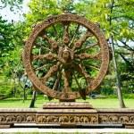 Wheel of dhamma of buddhism — Stock Photo #12510275