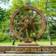 Royalty-Free Stock Photo: Wheel of dhamma of buddhism