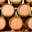 Wine keg barrels — Stock Photo
