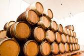 Wine keg barrels — Stock Photo