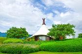 Contemporary rural home — Stock Photo