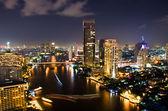 Bangkok stad nacht, thailand. — Stockfoto