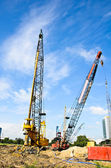 Crane working on a Construction site. — Stock Photo