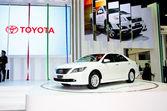 Toyota Camry Hybrid car — Stock Photo