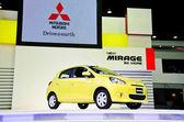 The Mitsubishi Mirage car — Stock Photo