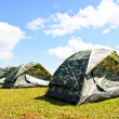 Tent on a grass — Stock Photo