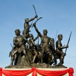 Monument to the Heroes Bang Rachan. — Stock Photo