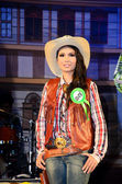 Miss cowgirl contest — Stock Photo