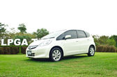 Honda Jazz Hybird car — Stock Photo
