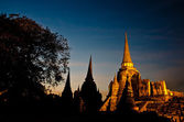 Pagoda at Wat Phra Sri Sanphet Temple — Stock Photo