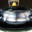 The Lamborghini Tron Supercars Aventador car - Stock Photo