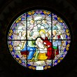 Antique Stained Glass Windows. — Stock Photo