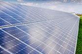 Solar panel and renewable energy — Stockfoto