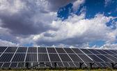 Solar panel and renewable energy — Stock Photo