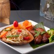 Sausage and Thai Som Tum Salad — Stock Photo #13111214