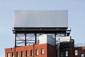 Prázdný městské billboard — Stock fotografie